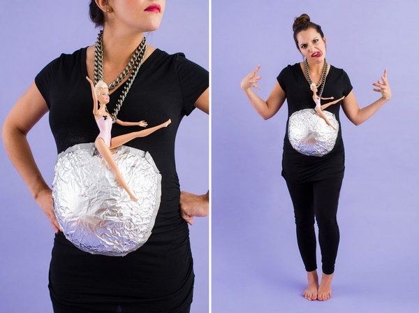 easy diy maternity halloween costume ideas wrecking ball - Maternity Halloween Costumes Pregnancy