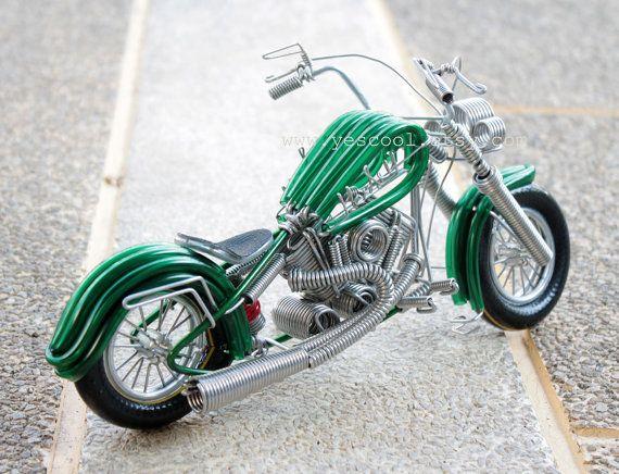 Handmade Harley Davidson Aluminium Wire Art Sculpture By Yescool Wire Art Sculpture Harley Davidson Wire Art