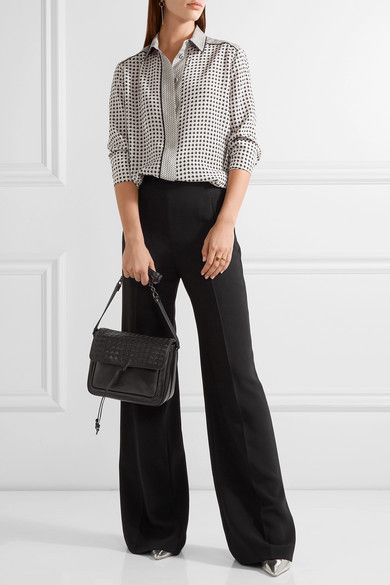 835554d9d7e9 Bottega Veneta Saddle Small Intrecciato Leather Shoulder Bag - Black ...