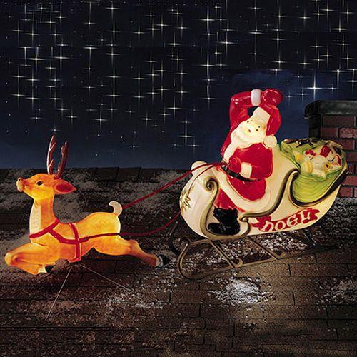 Details About 42 Tpi Plastic Blow Mold Lighted Santa