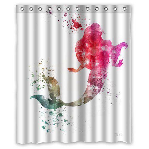 Shower Curtain Kids Bath 25 Amazon Ariel The Little Mermaid SKCASE Custom 60x72 Inch
