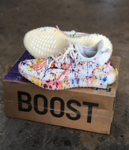 1ad8df3d0 Custom Paint Splattered Adidas Yeezy s in 2019