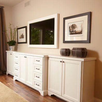 Best Long Dresser W Framed Tv Love This For The Master 400 x 300