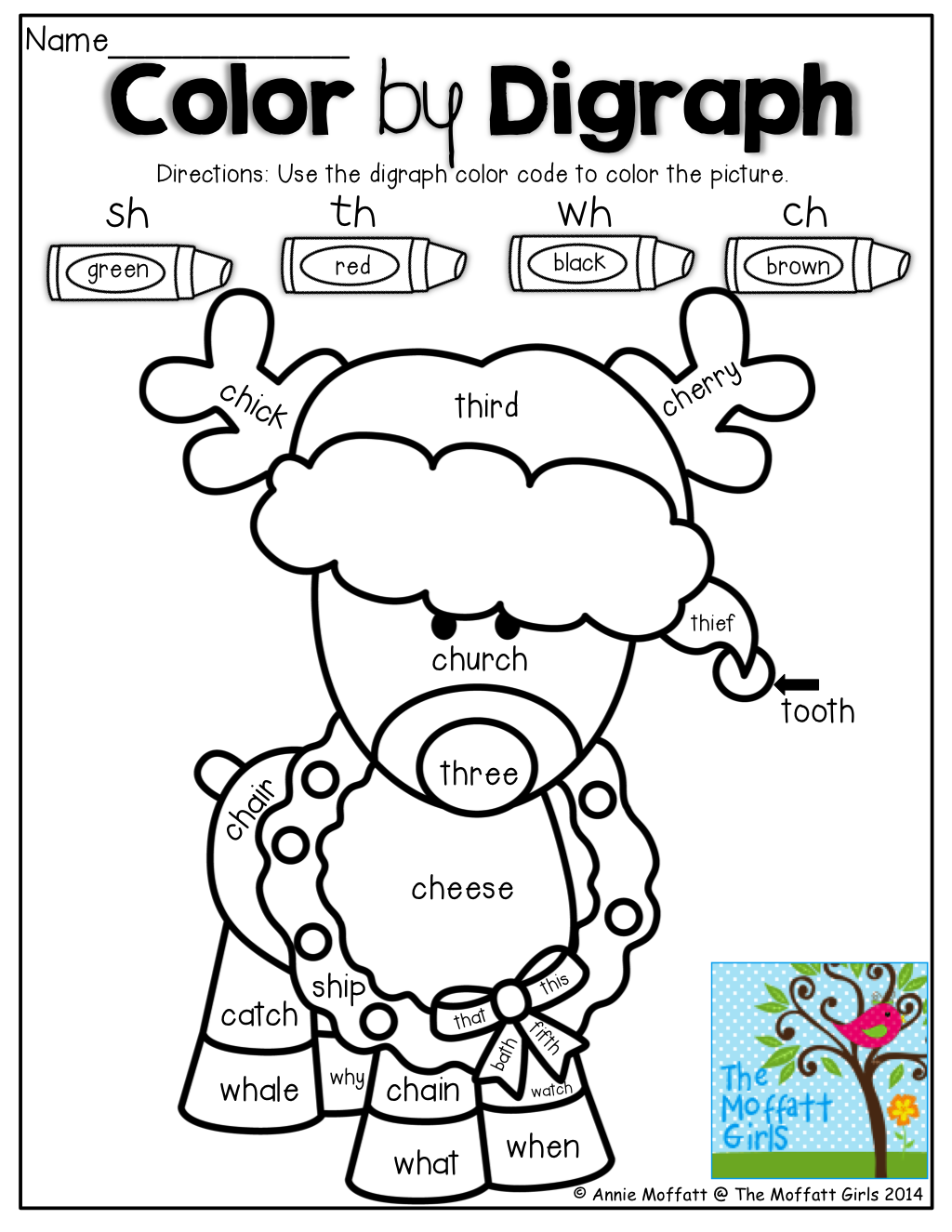 Color By Digraph And Tons Of Other Great Printables