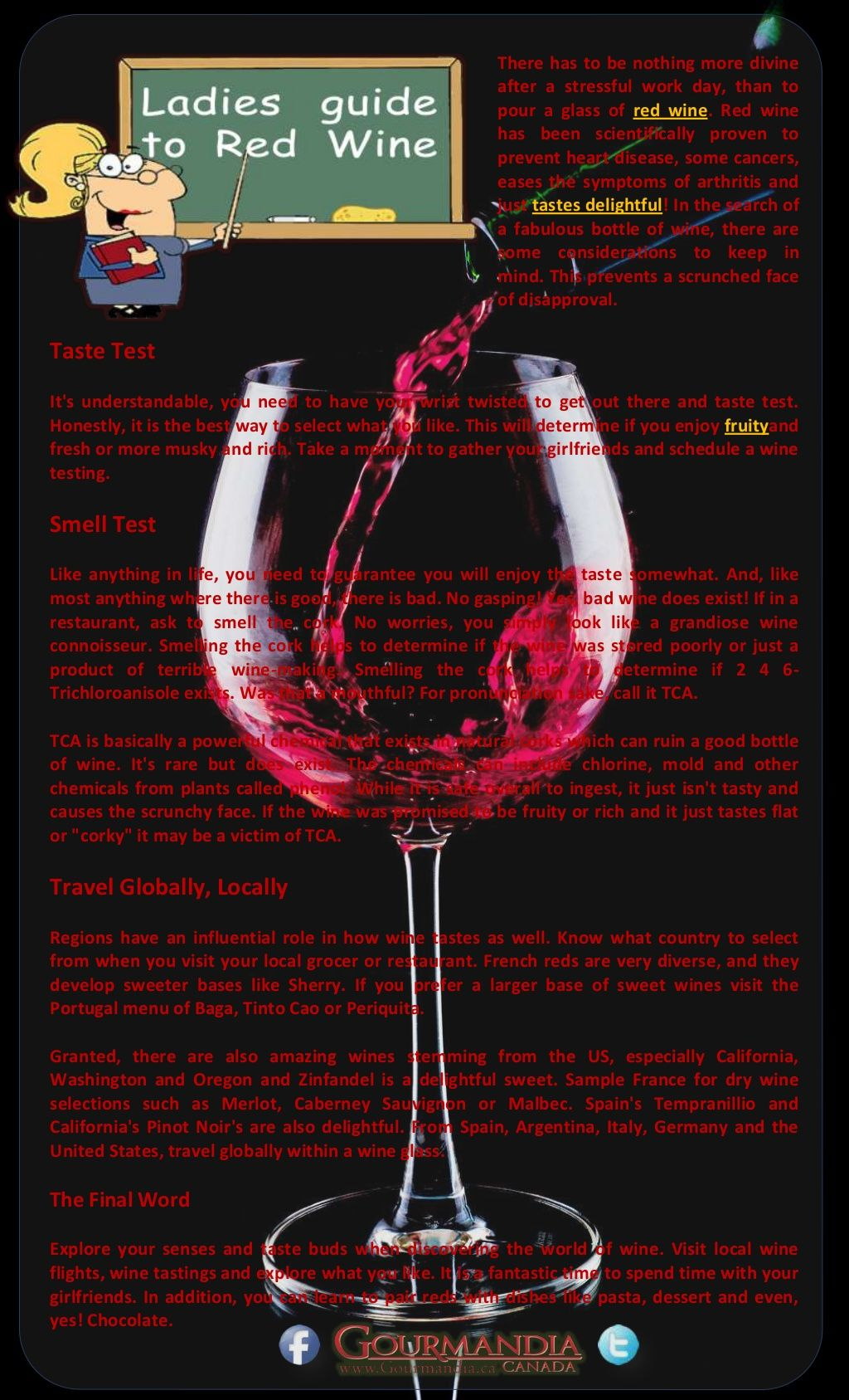 Ladies Guide To Red Wine By Catalina Linkava Via Slideshare Red Wine Wine Red