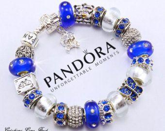 bracelet pandora perle bleu
