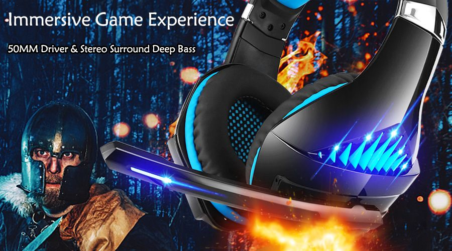 Gaming Headset for Xbox One PS4 PC Beexcellent GM-5 Stereo Surround