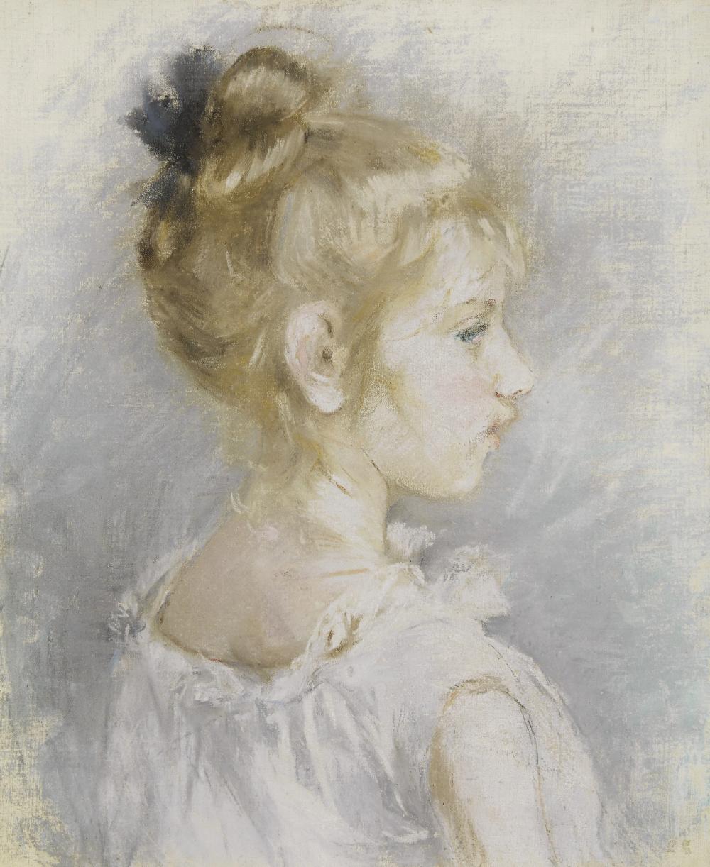 Berthe Morisot (1841-1895) - Portrait de Blanche Pontillon - 1877 - pastel  on canvas (45.7 x 38.5 cm.)