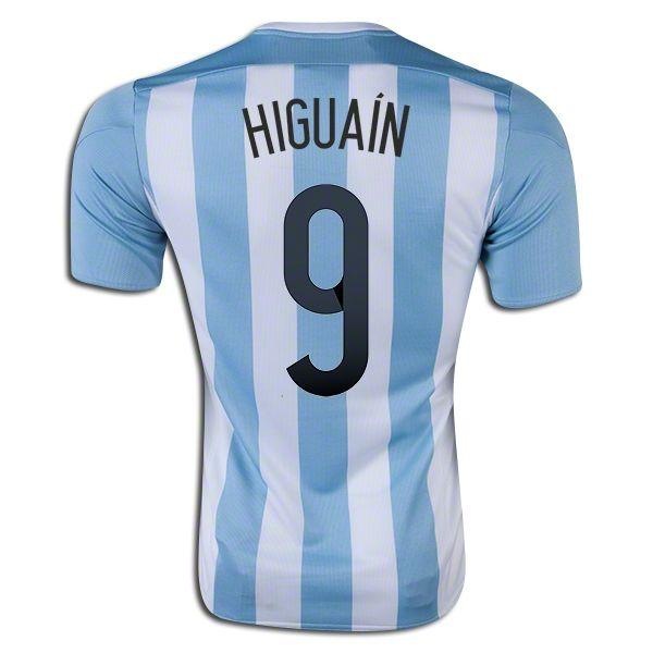 Gonzalo Higuain 9 2015 Copa America Argentina Home Soccer Jersey