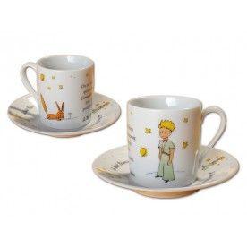Coffret de 2 tasses à café Expresso le Petit Prince