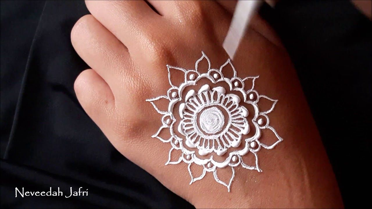 ᴴᴰ White Henna Art Mandala Designs