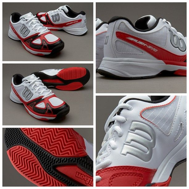 sneakers for cheap f39ea 8e229 Wilson Rush Evo - White Wilson Red Black قیمت بعد از حراج  تومان