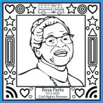 free printable rosa parks coloring sheet and celebration song for kids