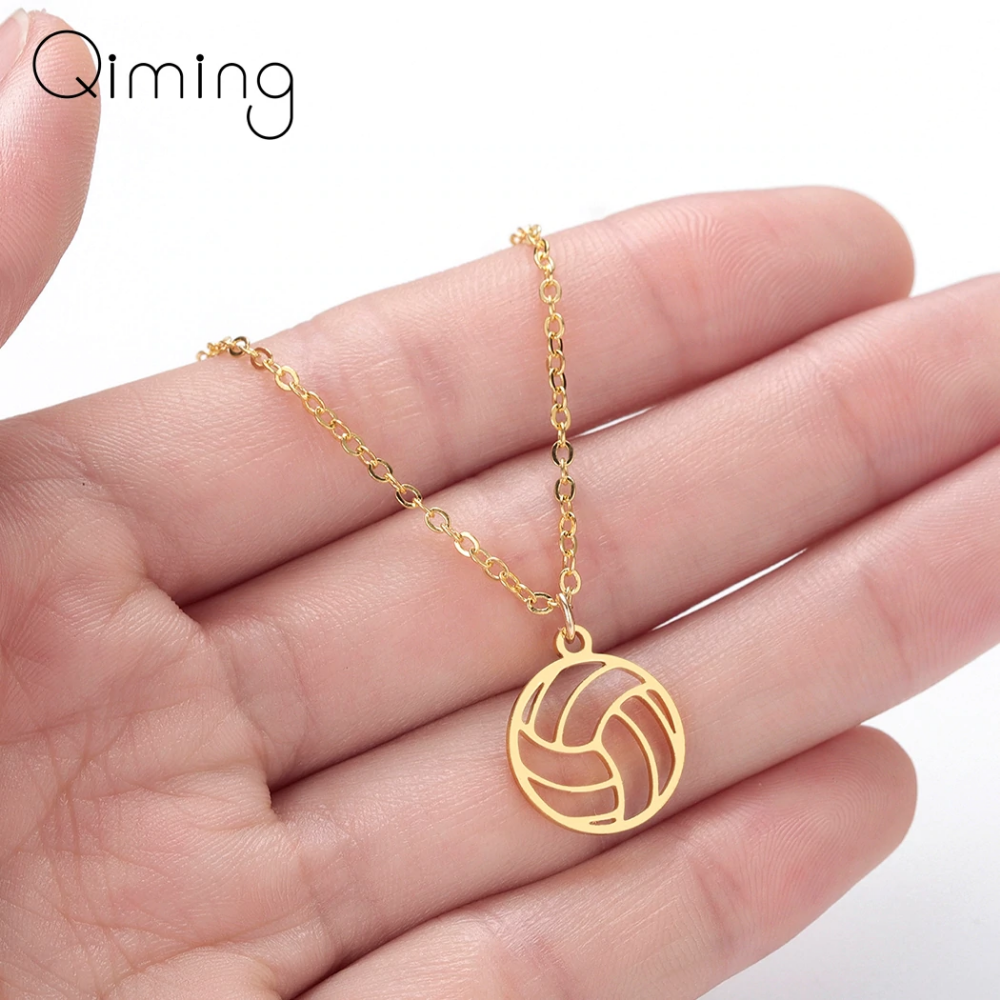 Oberlo Silver Volleyball Necklace Women Men Ball Pendant Sports Jewelry Gifts Volley Ball Sports Fan Volleyball Necklace Sports Jewelry Volleyball Wallpaper