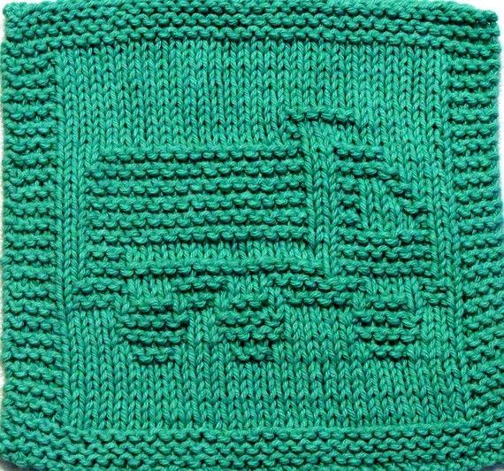 Baby Washcloths Knitting Patterns: Knitting Cloth Pattern - DUMP TRUCK - PDF