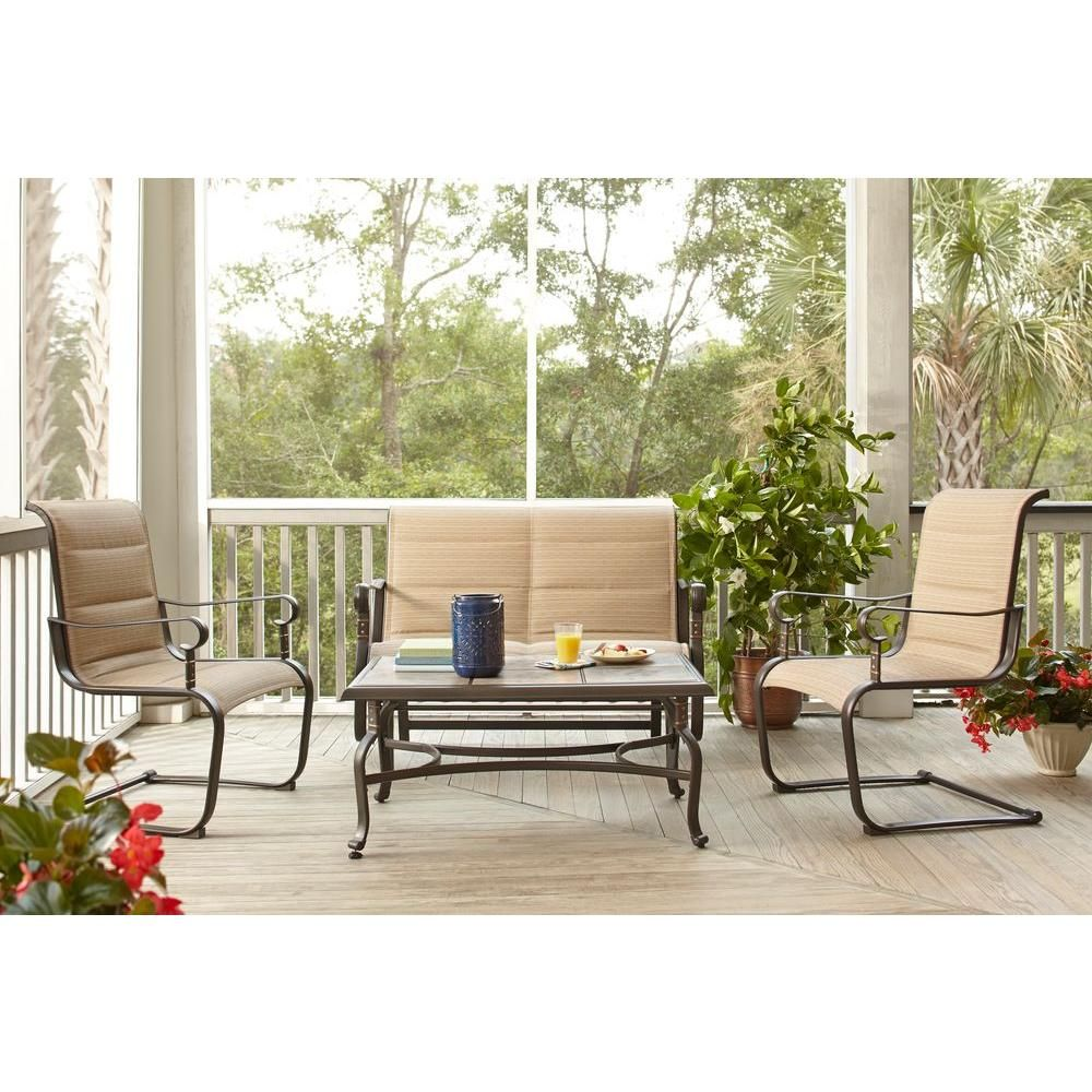 Featuring Weather Resistant Steel Frames This Patio Set Is Sturdy