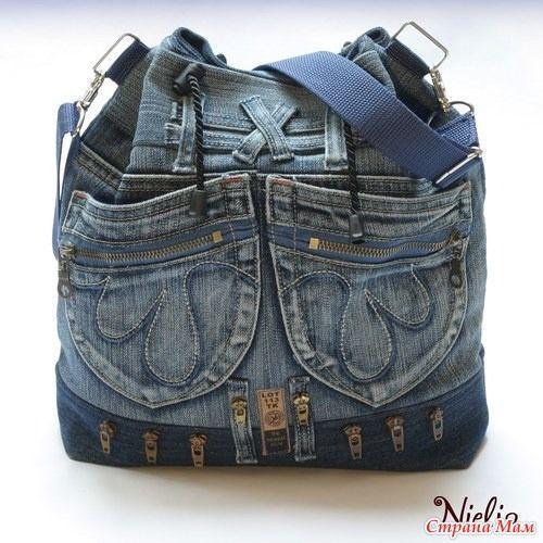 f921a613e650 Nielia - сумки из джинсов 1 | Reciclar mezclilla bolsas, monederos ...