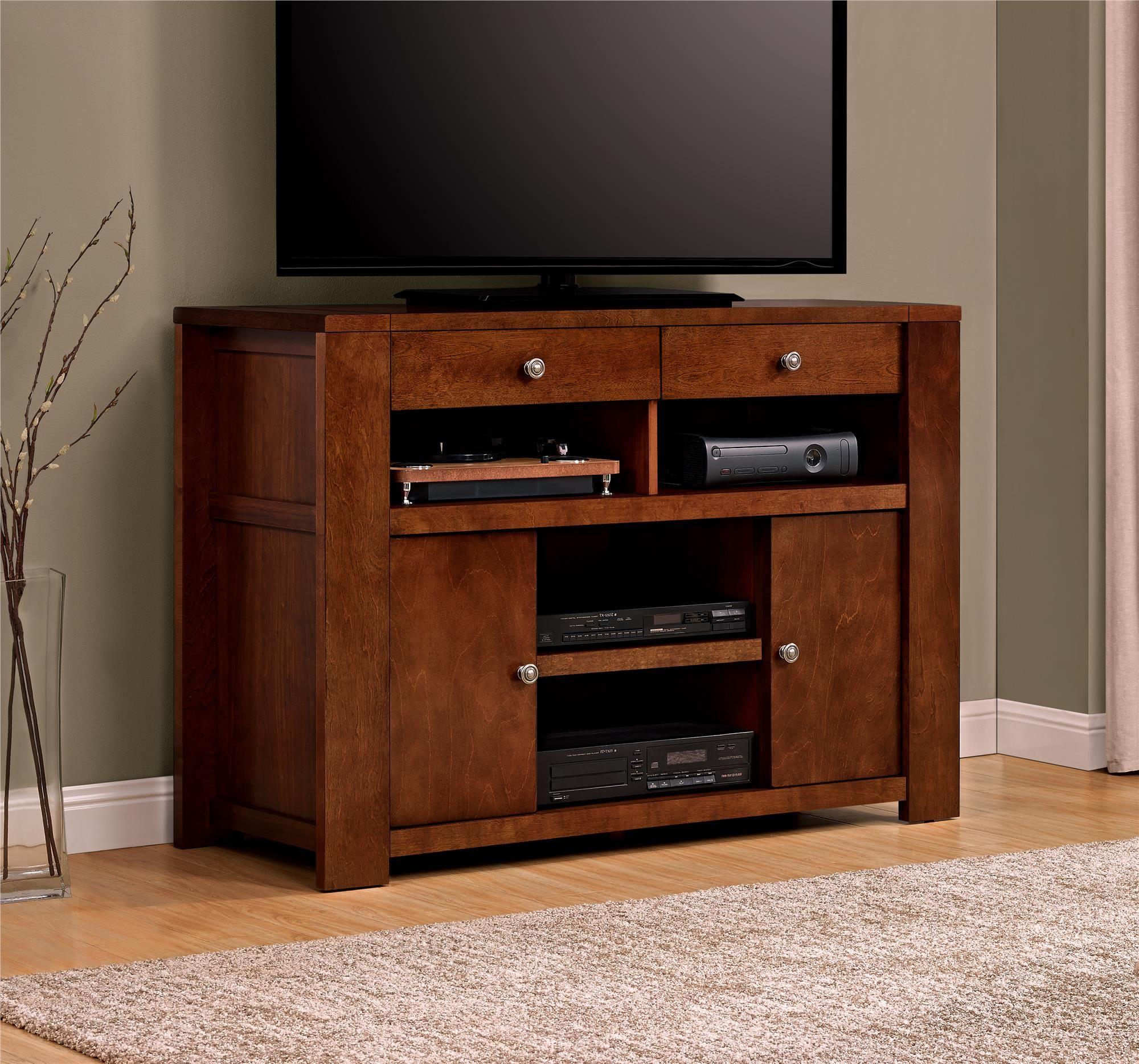 Dorel Home Furnishings Vermont Farmhouse Madison Cherry TV Stand