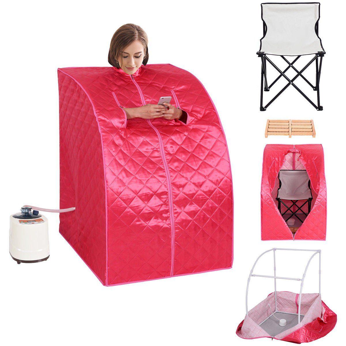 Costway Portable 2l Steam Sauna Spa Full Body Slimming