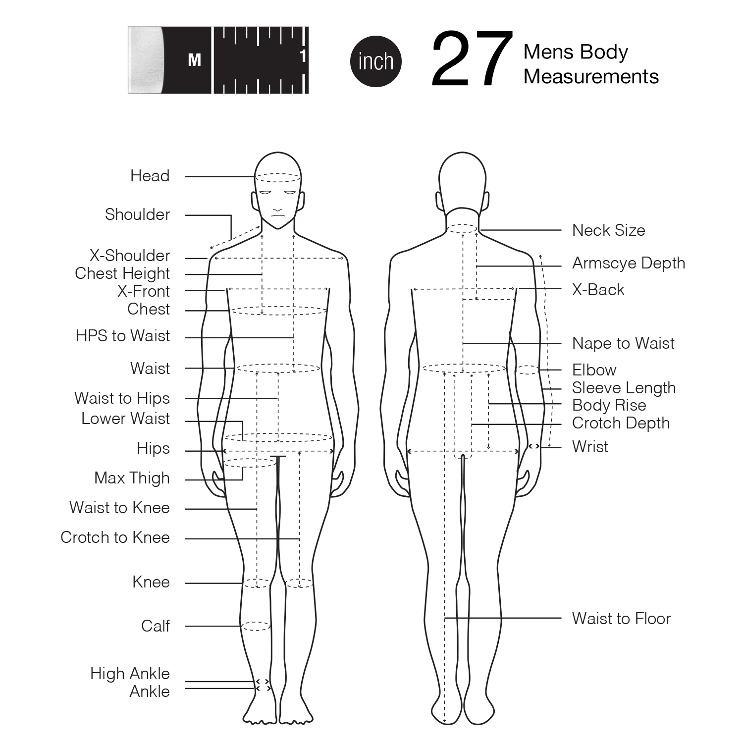 Human Body Size Diagram Block And Schematic Diagrams