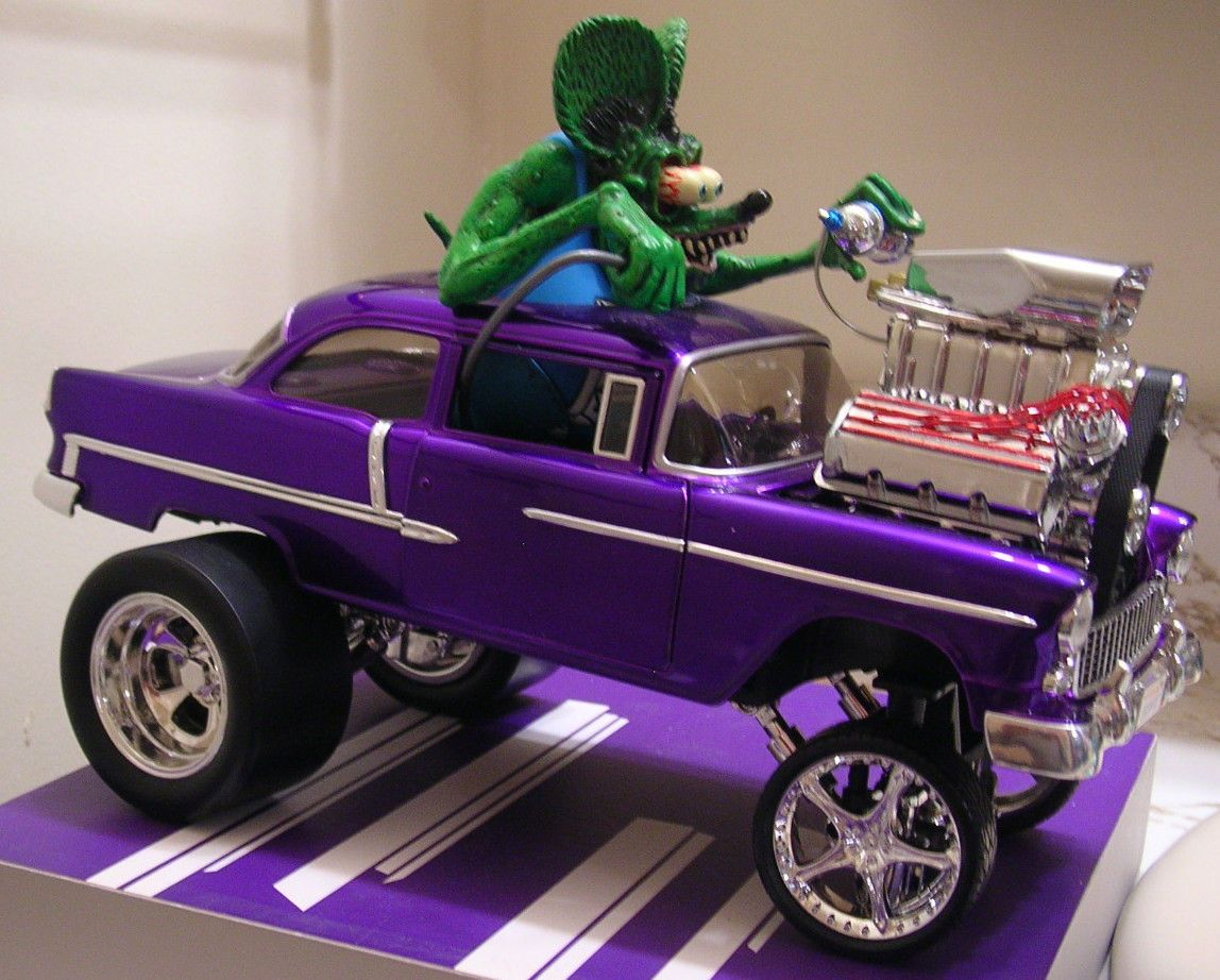 55 Chevy Rat Fink With Images Custom Rat Rods Model Cars Kits