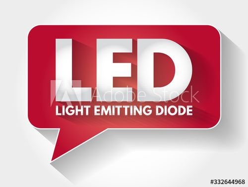 LED - Light Emitting Diode acronym message bubble, technology concept background - Buy this stock vector and explore similar vectors at Adobe Stock