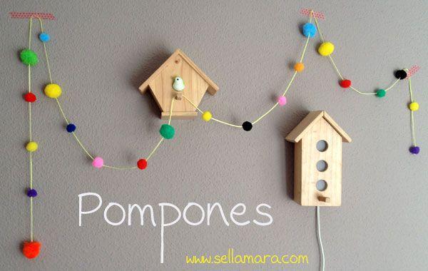 Guirnalda con pompones/ DIY pom pom garland