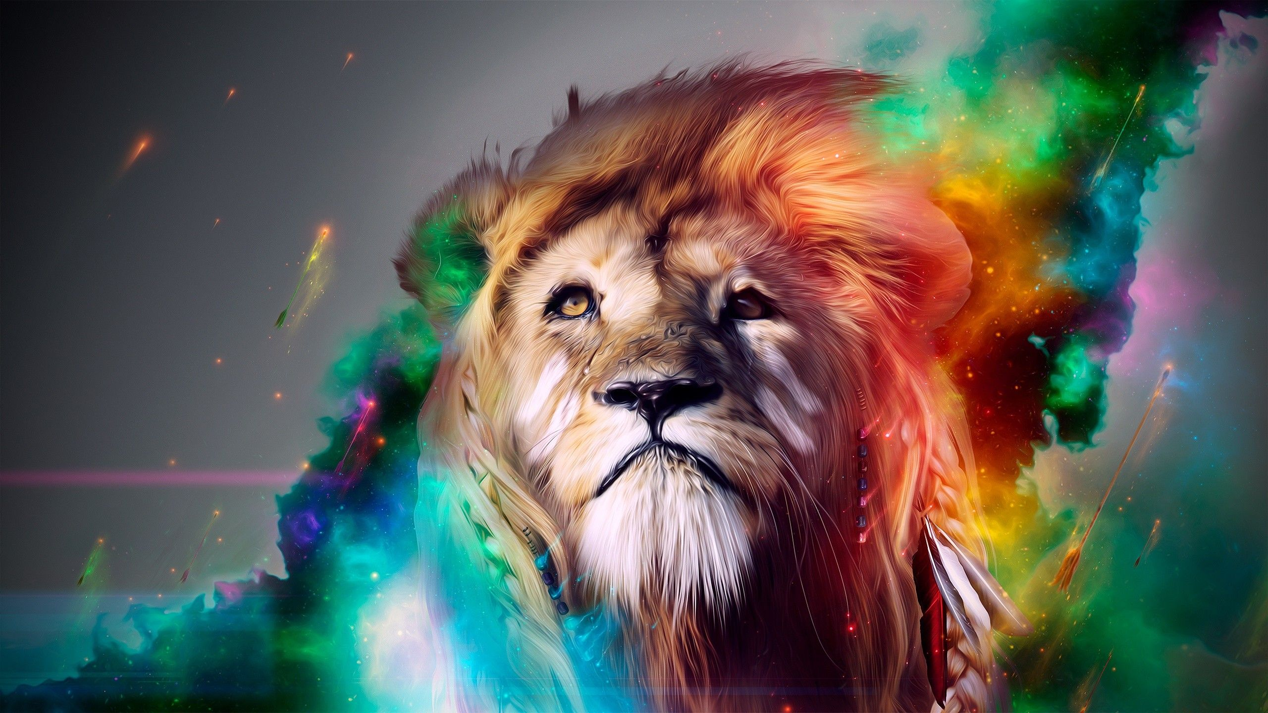 Lion Background For Desktop Wallpaper Abstract Lion Lion