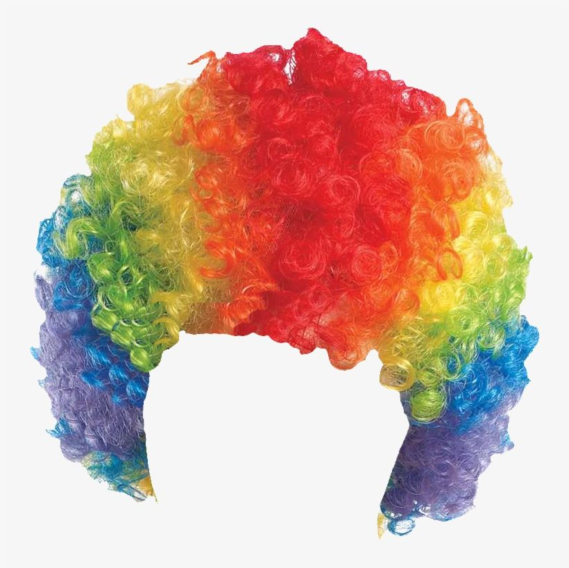 Download Curly Clown Wig Rainbow Png Image For Free Search More Creative Png Resources With No Backgrounds On Seekpng Clown Wig Rainbow Png Clown