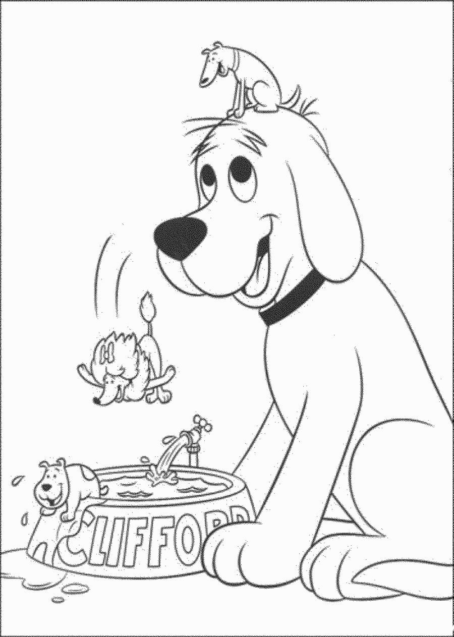 Clifford The Big Red Dog Coloring Pages Dog Coloring Page