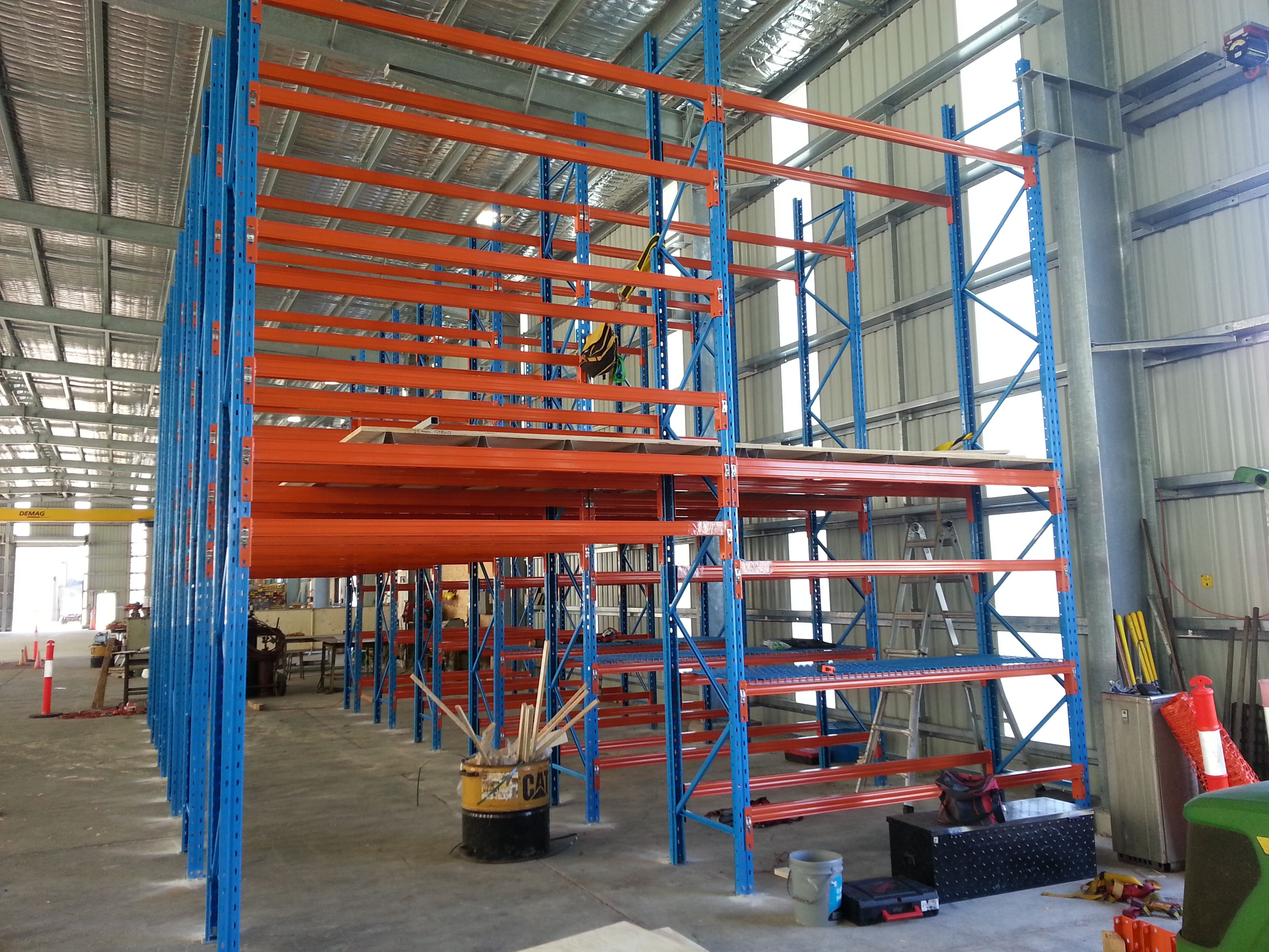 Using A Pallet Racking Framework For A Raised Storage Area Can Have Many Benefits Pallet Rack Pallet Racking System
