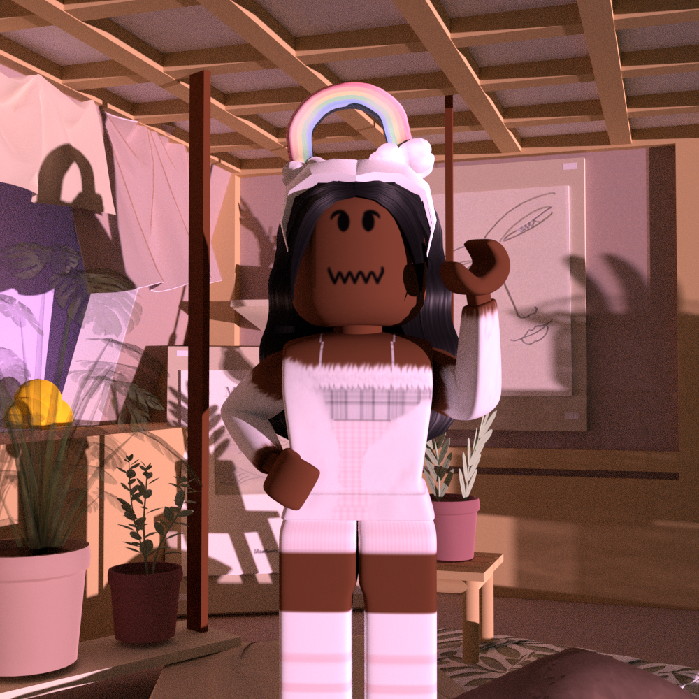 Pin By Honey Bee On Blender In 2020 Roblox Pictures Black Hair Roblox Roblox Animation