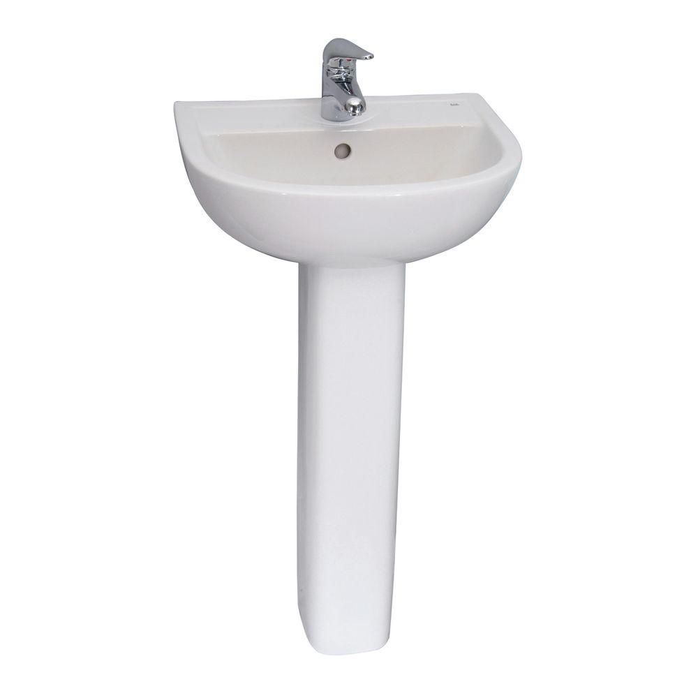 Barclay Products Compact 550 Pedestal Combo Bathroom Sink In White