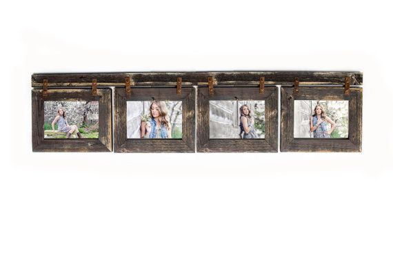 Barnwood Collage Frame 4 hole 5x7 Multi Opening Frame-Rustic Picture ...