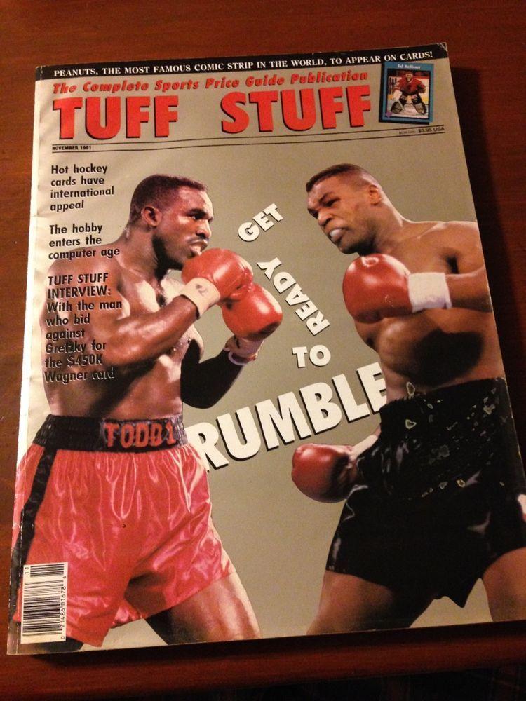 november 1991 large edition tuff stuff magazine holyfield