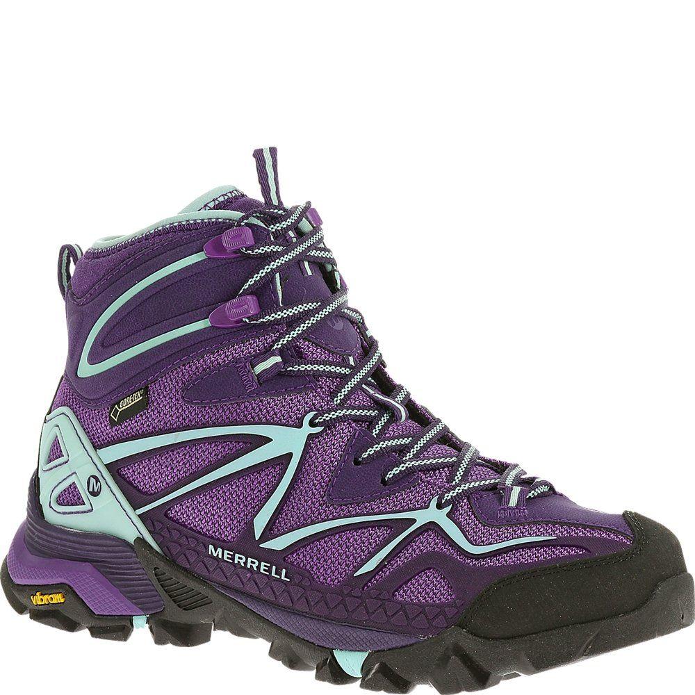 413a40417fa Merrell Women's Capra Mid Sport Gore-Tex Hiking Boot, Royal Lilac ...