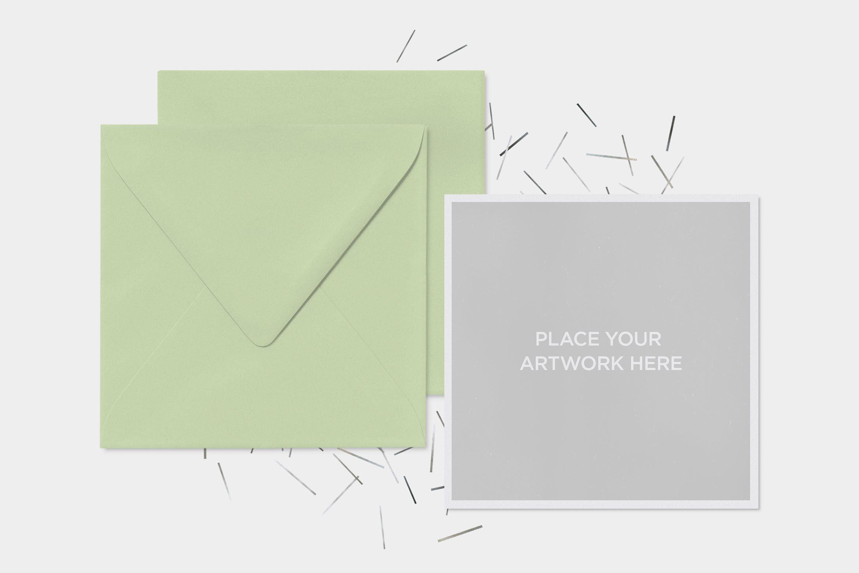 Invitation Mockups By Itscroma On Envato Elements Invitation Mockup Square Greeting Card Mockup Templates