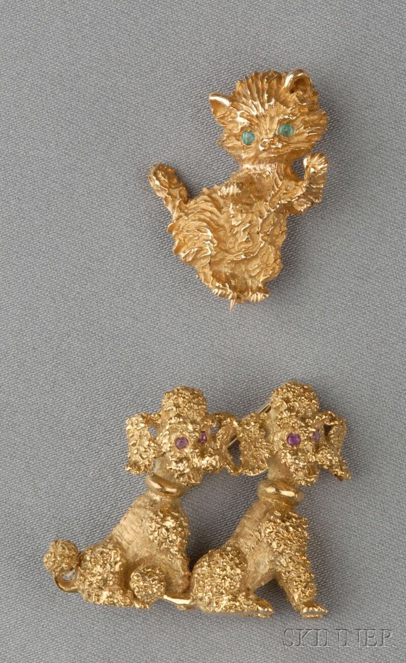 Two Figural Brooches