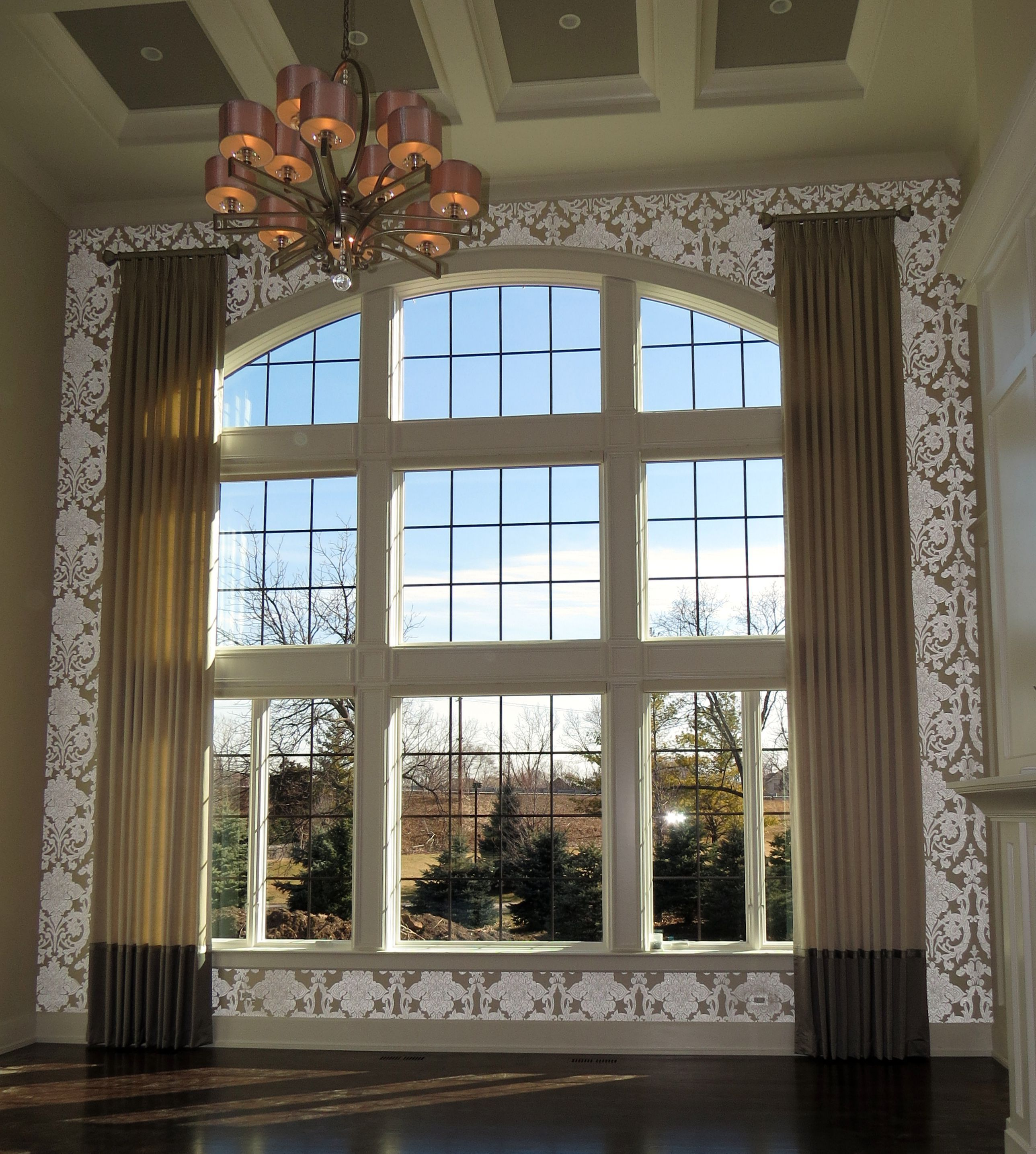 Dramatic Two-story Drapes Finish Off An Elegant Family