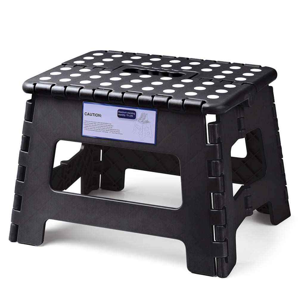 Acko Folding Step Stool Lightweight Plastic Step Stool 9 Inch