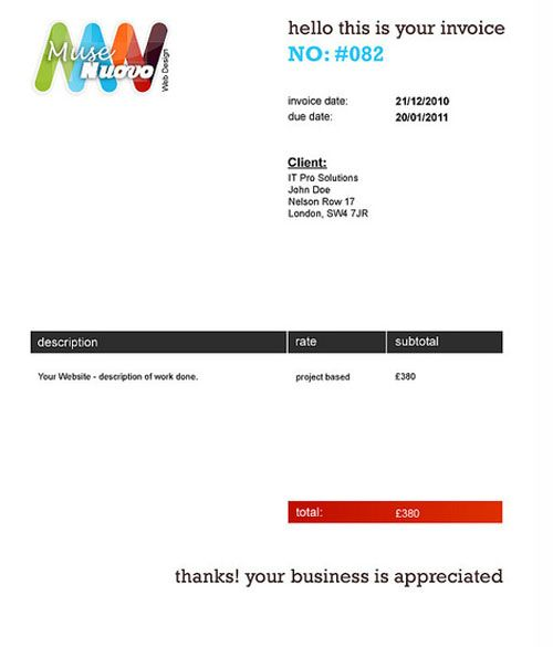 Invoice Design Inspiration Best Examples and Practices Invoice - email invoices