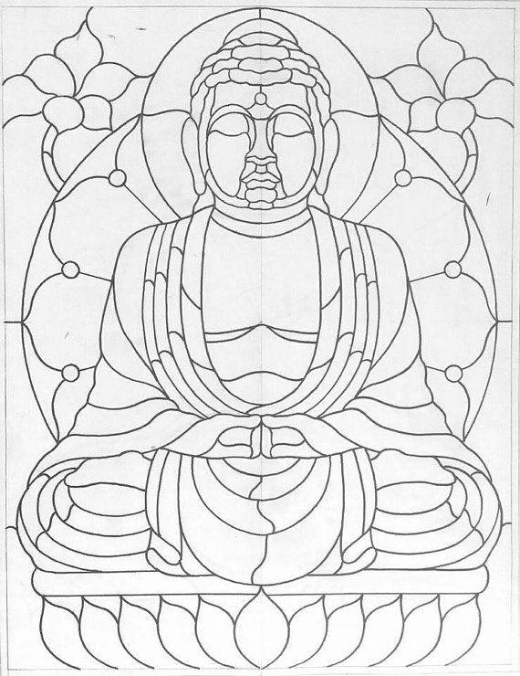 Buddah Patrones De Vidrieras Arte Vitral Disenos De Vidrieras