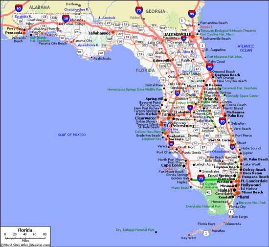 Map Of Florida East Coast Cities Florida Map with Cities Labeled | Florida Cities | Panama city
