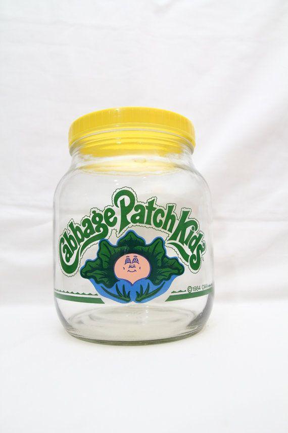 Vintage 80s Cabbage Patch Kids Glass Jar Storage Cookie Candy Etsy Cabbage Patch Kids Cabbage Patch Cabbage Patch Dolls