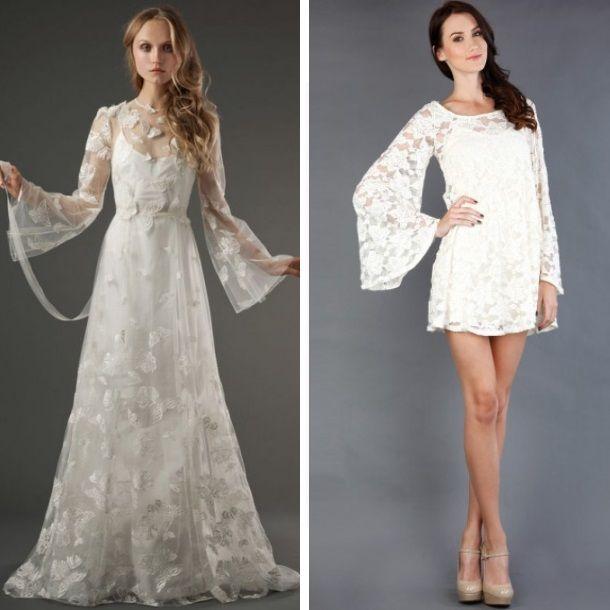 mangas campana para tu vestido de novia | corte y confeccion