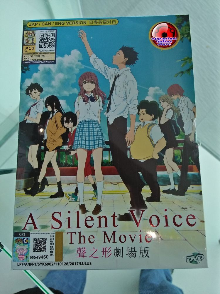 A SILENT VOICE THE MOVIE ANIME DVD ENGLISH DUBBED Anime