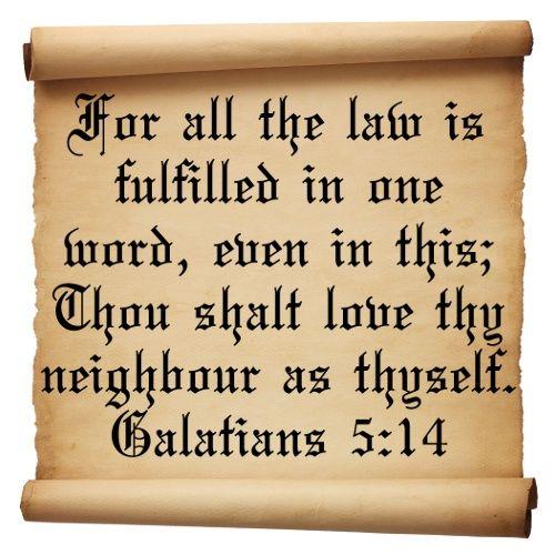 Image result for love thy neighbor as thyself  kjv