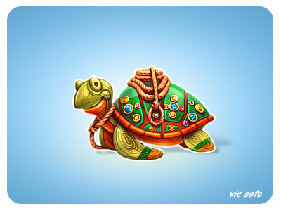 Dribbble - Wooden Journey Tortoise by Victor Soto