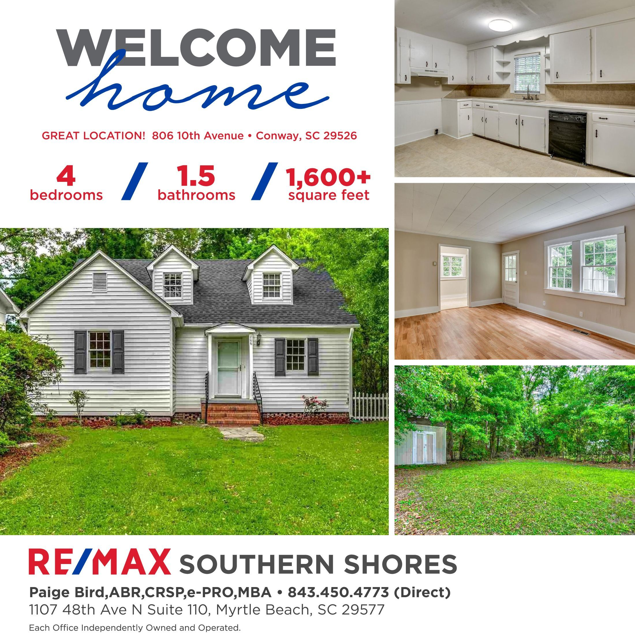 806 10th Ave Conway SC MLS 1809896 PRICE 150,000