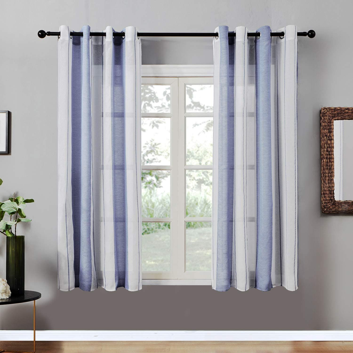 Pin On Window Treatments #navy #living #room #curtains